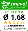 airline direct Test Bewertung